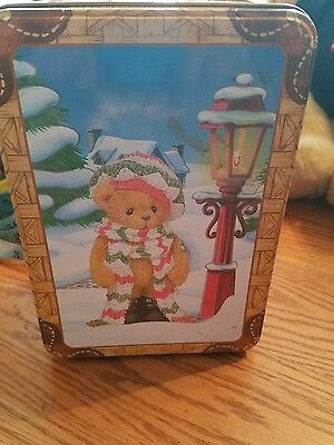 cherished teddies 2000 limited holiday collectible tin gift set