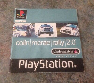 Colin Mcrae Rally 2.0 Playstation 1 Instruction Booklet / Manual Ps1