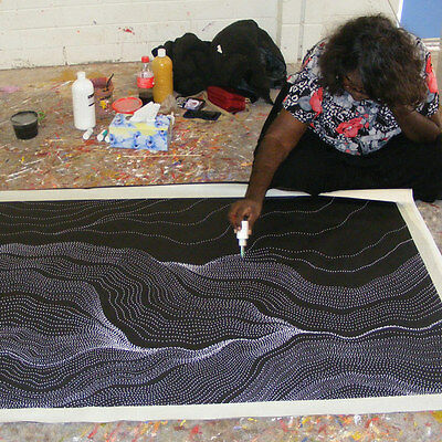 ABORIGINAL ART PAINTING by ANNA PETYARRE (PITJARA) MY COUNTRY, Authentic Artwork