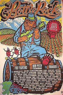 Bottlerock Poster May 2017 Napa CA Foo Fighters Tom Petty Maroon 5