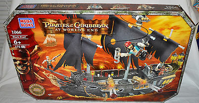 Mega Bloks 1066 Disney Pirates Of The Caribbean BLACK PEARL Ship SEALED!