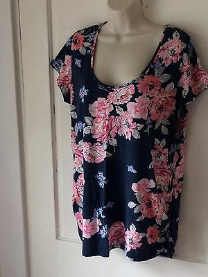Women's Old Navy Maternity Blue Floral Top Size XL