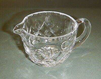 Vintage Crystal Diamond Cut Milk Cream Jug