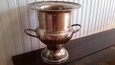 Antique Silverplate Urn Vase with Handles 10""