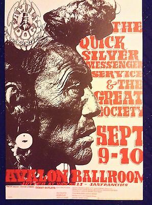 Quicksilver Messenger Service/The Great Society 3rd pressing Concert Poster