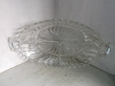 """Fostoria COLONY 3 Part Divided Relish Serving Dish 13"""""""