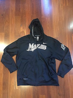 Nike Men Therma Fit Jacket Size XL Florida Marlins