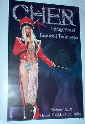 Cher 2002 Living Proof/Farewell Tour Ringmaster Miami Lithograph 286/500