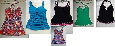 9b83f662d828e PROFILE BY GOTTEX black lace up front Tankini top size 40D - $31.49 ...