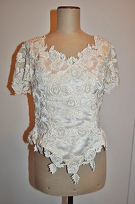 Vintage 80's HENRI JOSEF Beaded Top - Wedding, Formal, Evening