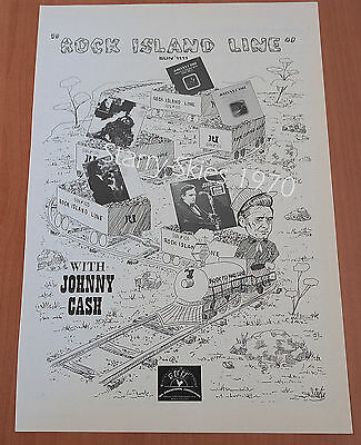 Rock Island Line With Johnny Cash 1970 Sun International Vintage Promo Ad