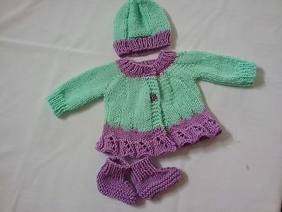 Hand knitted baby clothes  smaller newborn