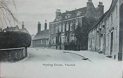 Tea Shop & Watling Street Thaxted Essex Early Pc
