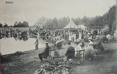 Edwardians By The Pond At Halton Buckinghamshire 1912 Pc