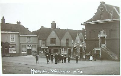 Edwardian Youngsters At Market Hill Woodbridge Suffolk 1914 Rp Pc