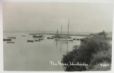 Tranquil River Scene At Woodbridge Suffolk Early Rp Pc