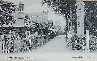 Old Stocks & Cottage Ufford Near Woodbridge Suffolk Early Pc
