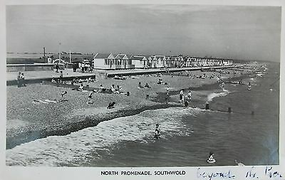 Bathers By The Beach Huts Beyond The Pier At Southwold Suffolk Early Rp Pc