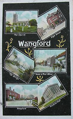 SIX VIEWS OF WANGFORD SUFFOLK c1905 PC