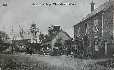 PART OF THE VILLAGE OF THURSTON NR BURY ST EDMUNDS SUFFOLK EARLY PAWSEY PC No581