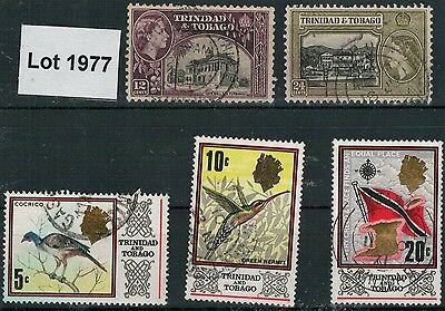 Lot 1977 - Trinidad & Tobago – used selection of 5 stamps