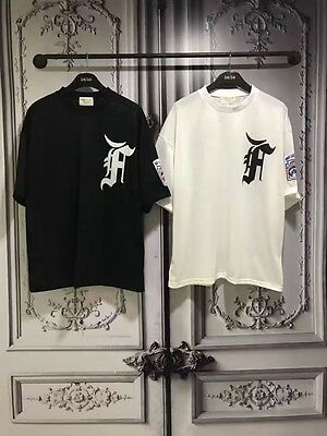 Falection 17 FOG 5th Collection F Embroidery Mesh Cotton Tshirt Baseball Jersey