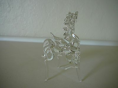 "Small Clear Glass Pegasus Figure-2 1/2"" H"