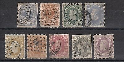 Belgium 1869 Early Stamps Used Hinged No Gum (#1825)