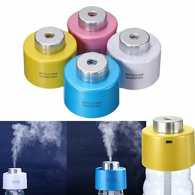 2qty x Mini Portable Bottle Cap Air Humidifier with USB Cable for Office Home