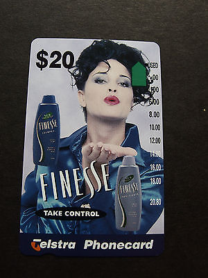 Telstra Phonecard  -1996 $2.00 FINESSE SHAMPOO - USED - one hole