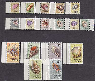 Kenya 1971 Sea Shells set + both varieties um-mint
