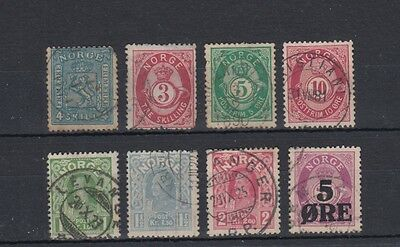 Norway 1863 - 1907 Early Stamps Used Hinged No Gum (#45)