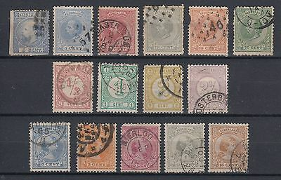Netherlands 1867 - 1891 Early Stamps Used Hinged No Gum (#1835)