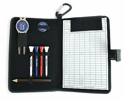 PGA Tour Real Leather Golf Accessories and Scorecard Holder ideal present