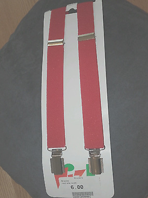 Boys Red Braces One Size
