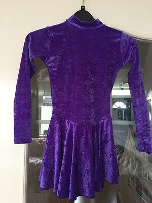 Purple ice skating dress (approximate age: 9-11)