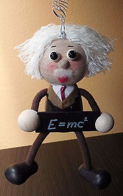 Albert Einstein soft toy - Little Thinkers Doll, Figure, Portrait, Wood, E=MC2
