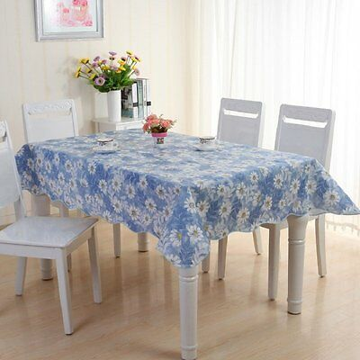 137*180cm Waterproof Fabric Kitchen Table Cloth Tablecloth Floral PVC Oilcloth