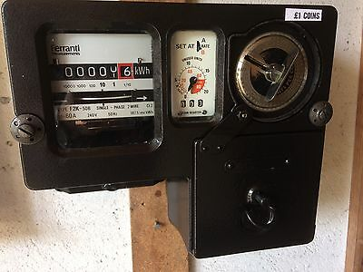ELECTRIC NEW/OLD ££££ [or EURO ] COINS KWH METER