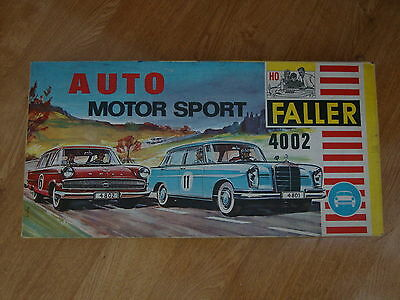L60 Faller HO Auto Motor Sport Slot Car Set - 4002 inc. Mercedes and Opel Cars