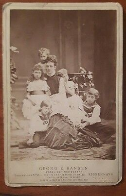 cabinet phot of Alexandra princess of Wales and her children