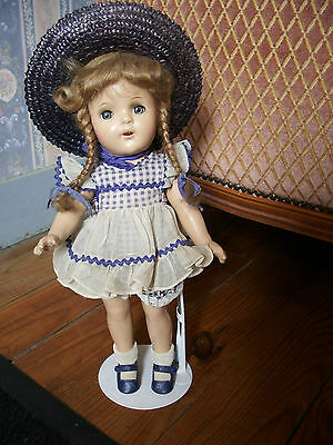"ALEXANDER DOLL - 13 "" - all composition -  dress tagged"