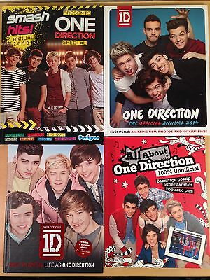 One Direction 1D Official Unofficial Annual Book Facts Photos Interviews Bundle