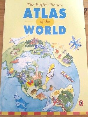 The Puffin Picture Atlas of the World by Julie Warne, John Lace (Paperback,...