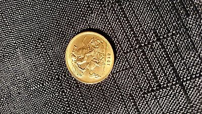 Stunning George V  Half 1/2 sovereign 1912 22ct gold coin
