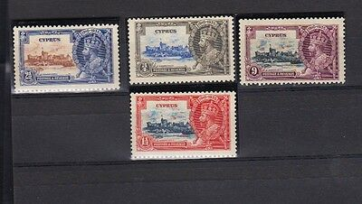 "Cyprus  Stamps  #136-#139 -""king George V Silver Jubilee"" -1935 Year Mnh"