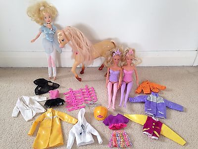 Barbie Doll Bundle With Barbie Horse And Clothes