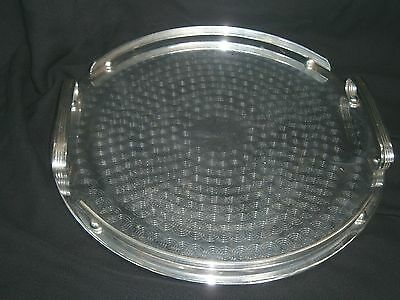 VINTAGE RANLEIGH SILVER PLATED ROUND SERVING TRAY  34cm.