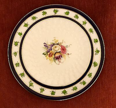 Antique 1903 Royal Worcester Hand Painted & Sculptured Cabinet Plate