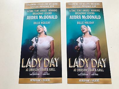 2x flyer Audra Mc Donald is Billie Holiday LADY DAY at Emerson's bar& grill